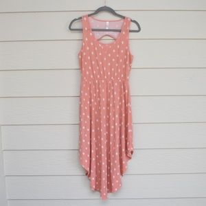 XHILARATION | Pink & White Polka Dot Dress